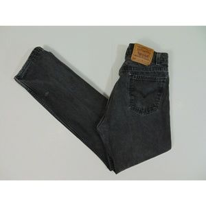 Vintage Levis 505 Men 31 x 31 Black Jeans Straight